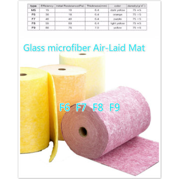 Glass microfiber air-laid mat