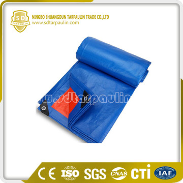 PE Tarpaulin blue waterproof canvas fabric tent cover
