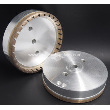 Diamond cup wheel with inner segmented