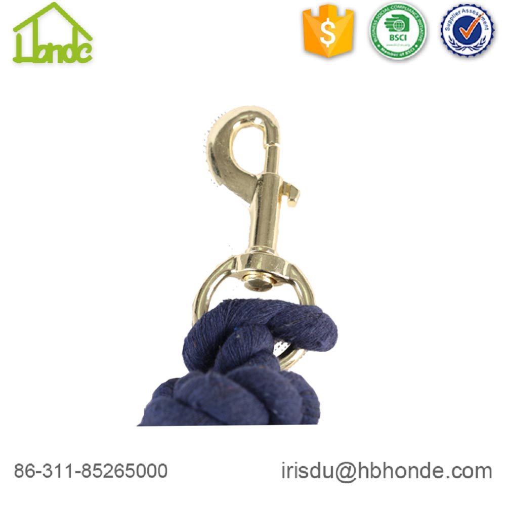 Customized Navy Blue Cotton Horse Lead Rope