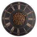 Wooden 18 Inches Rustic Gear Wall Clock