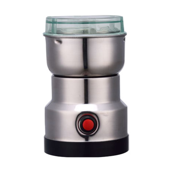 Electric stainless steel burr coffee grinder