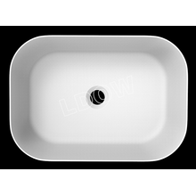 Rectangle solid surface counter basin WB002 for bathroom-460x325x135mm