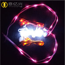 Custom Colorful LED Luminescent Shoelace With Battery