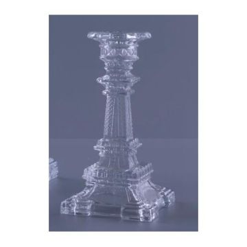Glass Eiffel Candlestick Holder