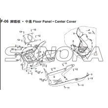 F-06 Floor Panel Center Cover XS150T-8 CROX For SYM Spare Part Top Quality