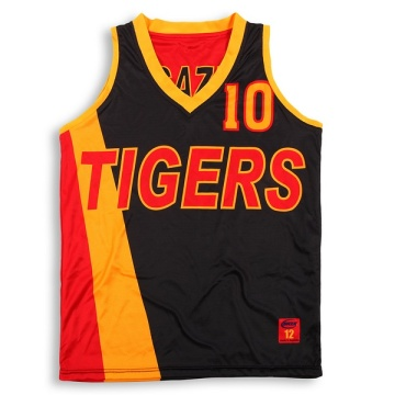 Custom mens reversible basketball jersey with name&number