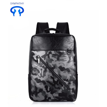 New pu backpack men's travel bag