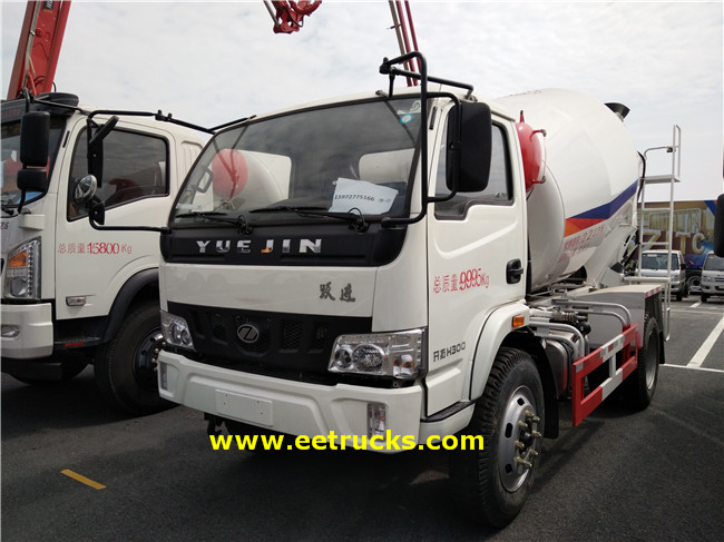 Yuejin Concrete Mixing Transport Trucks