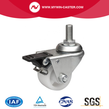 2 Inch 80Kg Threaded Brake PO Machine Caster