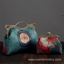 China for Fashional Jewelly Embroidered Handbag Hand Embroidery Retro Handbag export to Bahamas Manufacturer