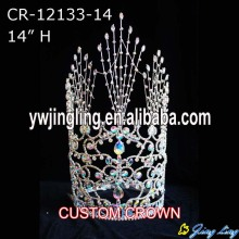 Reliable for China Angel Wing Shape Beauty Pageant Crowns and Tiaras, Glitz King Crowns. 14 Inch custom hot sell pageant crowns export to Georgia Factory
