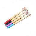 Soft Bristle Round Handle Bamboo Toothbrush For Adult