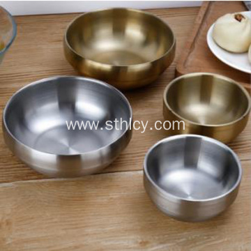 Thickened 304 Stainless Steel Anti-scalding Gold-plated Bowl