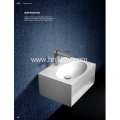 Solid surface pure resin wall hung washbasin