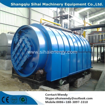 Green environmental waste tyre pyrolysis plant