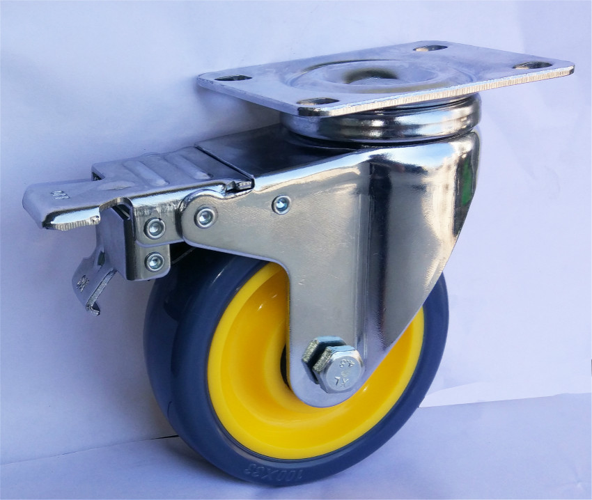 Medium Duty Total Brake Pu Caster Wheel