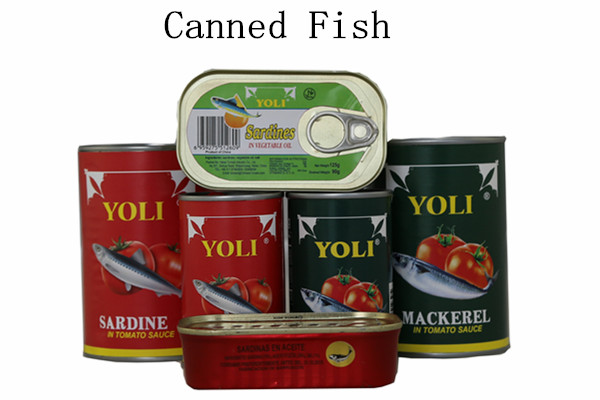mackerek and sardines in tin