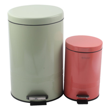 Round Bathroom Pedal Bin Removable Inner Wastebasket