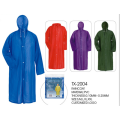 waterproof yellow long pvc raincoat