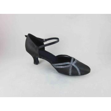 Hot Sale for Ladies Ballroom Shoes 1 inch heel black dance shoes export to Bahamas Supplier