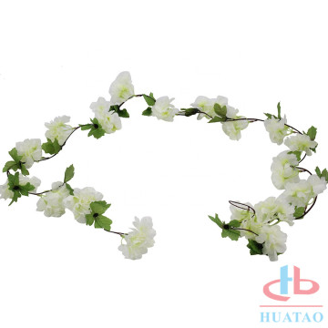 White wedding decoration pieces artificial cherry blossoms