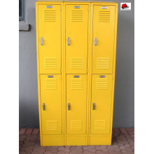 Colourful modern design lock 6 door locker