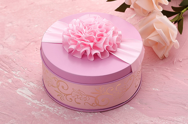 Pink Colour Candy Tin