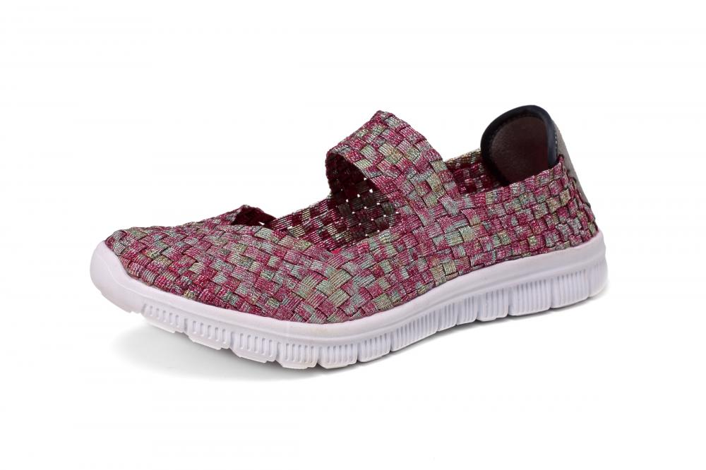 Light Red Woven Dance Shoes