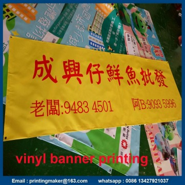 Outdoor Glossy Vinyl Banners with Ropes