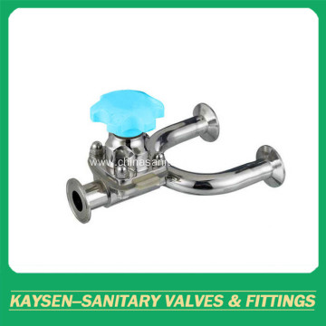 Sanitary U Type Diaphragm Valves Clamp Ends