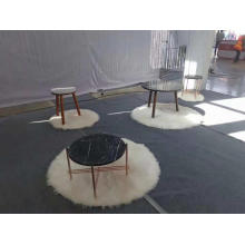 PriceList for for White Stone Coffee Table Black nero marquina round table export to Italy Manufacturer
