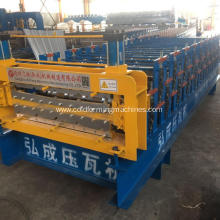 roof panel double deck forming machine line