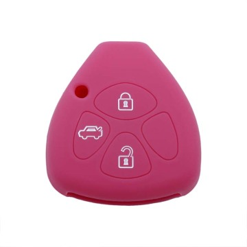 silicone car remote key cover case shell toyota