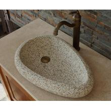 New Fashion Design for China Natural Stone Sink,Marble Sink Vanity,White Marble Sink Supplier Gold Ma granite stone basin supply to Russian Federation Factories