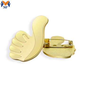 Soft enamel metal lapel pin for mens suit