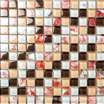 Comfortable Pink Color Glass Mosaic