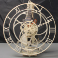 White Plactic Hollow Gear Pendulum Clock