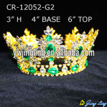 Wholesale Full Round Gold Pageant Crowns