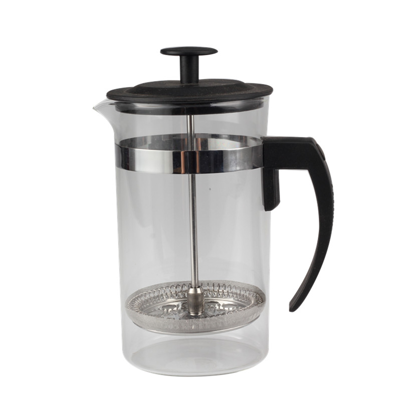 Heat Resistant Handle Of Glass French Press