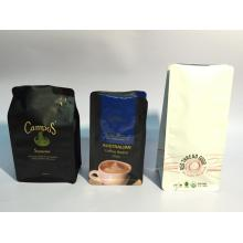 Discount Price Pet Film for Paper Coffee Bag Packaging Flat Bottom Coffee Pouch with Valve supply to Italy Manufacturer