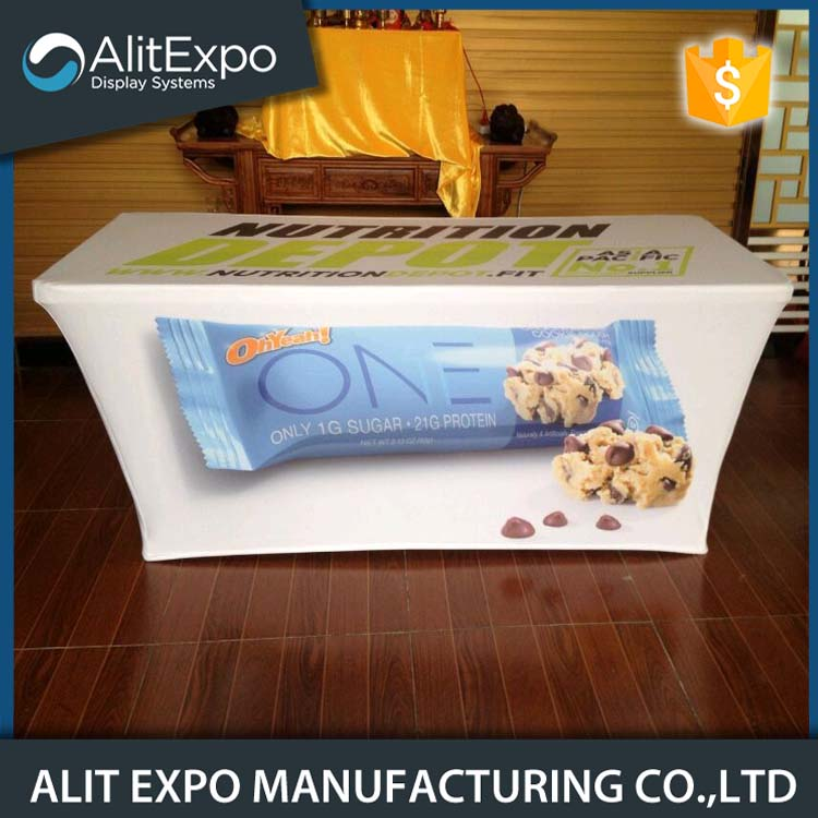 Trade show spandex printed table cover
