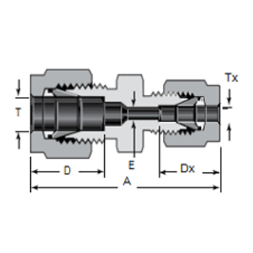 Metal Tube Ferrule Straight Reducer Union Connector