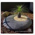 Hairline round G654 granite flower pot