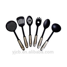 6pcs Nylon Non Stick Black Kitchen Cutlery Sets
