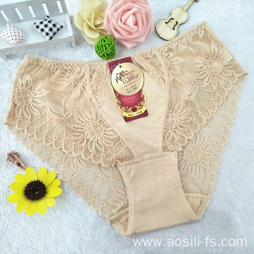 OEM hollow out wholesale blue body-slimming panty mid-waist shaper sexy comfortable lace shorts 5818