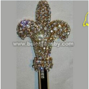silver plated Crown scepter SC-08