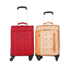 China Manufacturers for Pu Travel Luggage Bags customized four wheels aluminum pulling bar luggage export to Swaziland Supplier