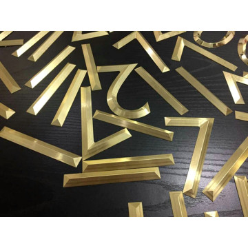 Brass Metal Alphabet Letters for Signs Outdoors Office