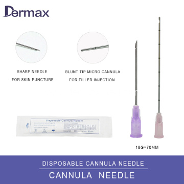 Cannula 25g for Dermal Filler Injectables